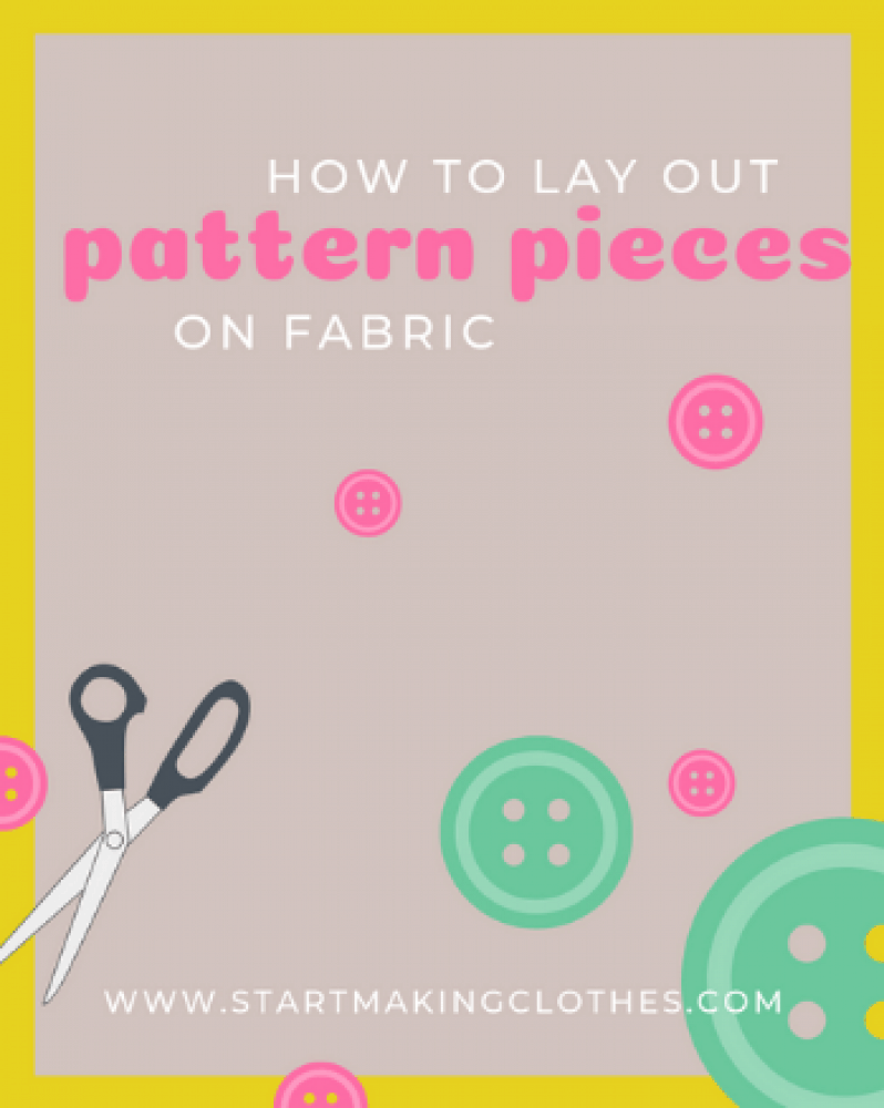 The FIRST 4 steps to do before laying the patterns over the fabric